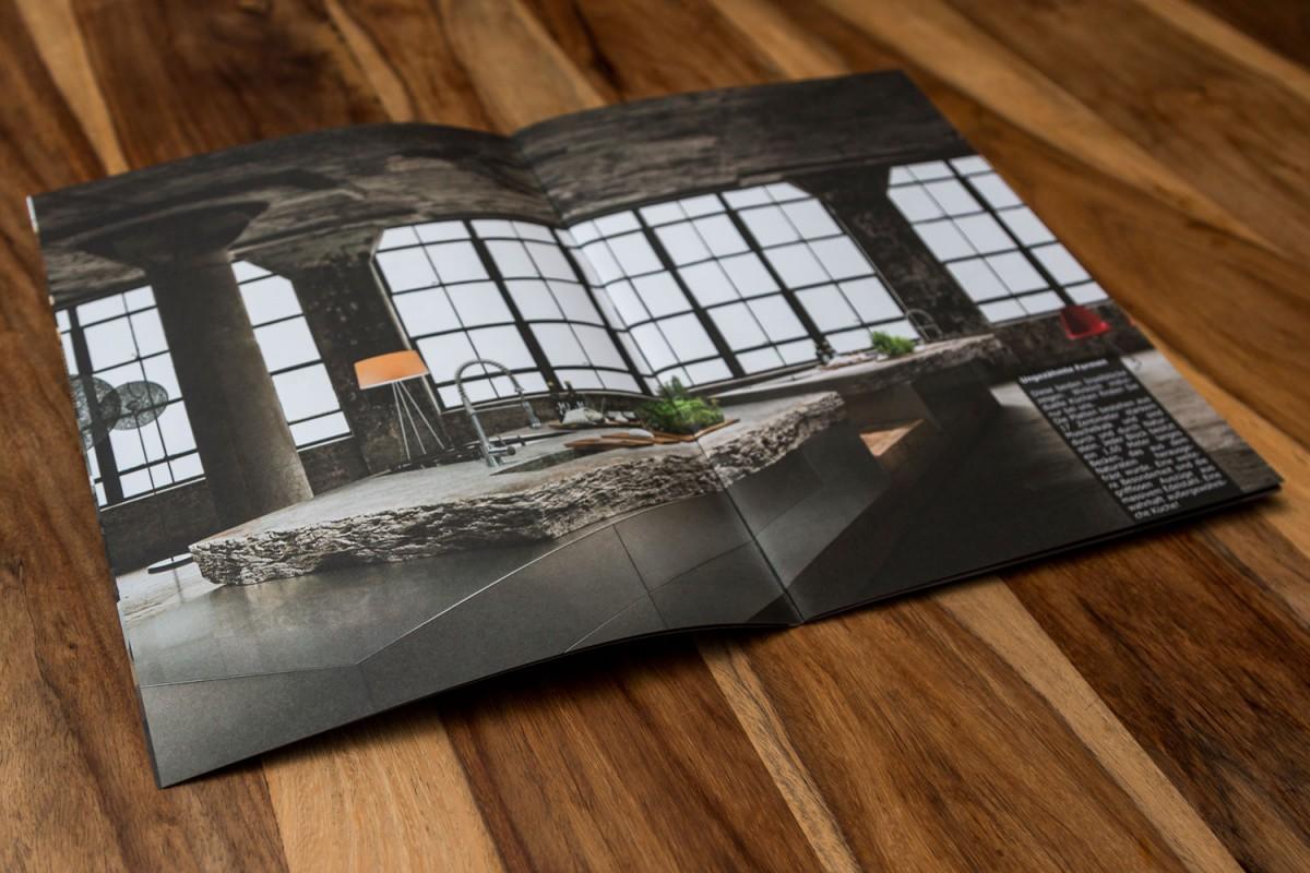 Imagebroschüre 4c-Druck auf Offsetpapier