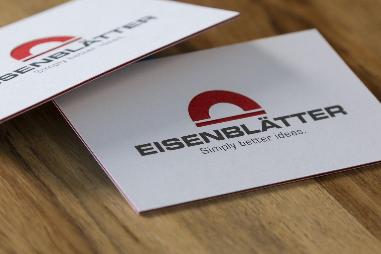Visitenkarte 3-fach kaschiert und lasergestanzt der Druckerei Rapp-Druck GmbH