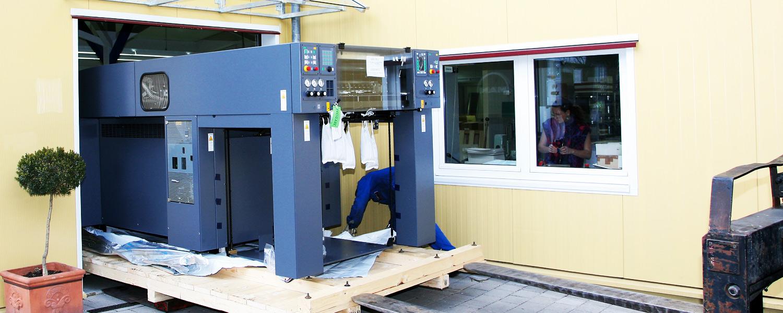 Firma Rapp-Druck Anlieferung MAN Roland 505 Druckmaschine