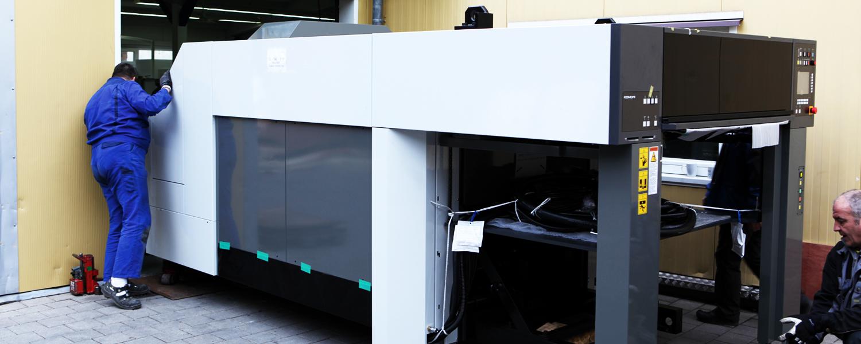 Druckerei Rapp-Druck GmbH Anlieferung Komori Lithrone 540