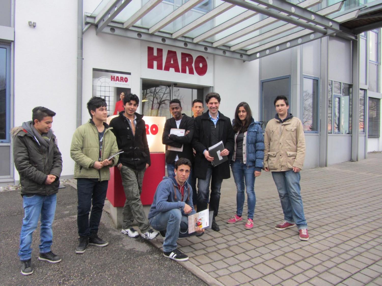 Harald Mader Druckerei Rapp-Druck 1000 Chancen Projekt Wirtschaftsjunioren Rosenheim Betriebsbesichtigung bei Hamberger