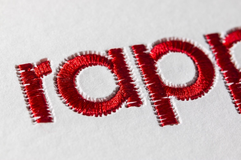 Rapp-Druck Logo genäht