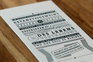 Druckerei Rapp-Druck Mailingkarte Letterpress