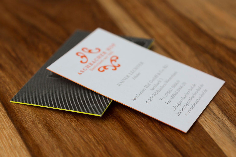 Druckerei Rapp-Druck Visitenkarte Farbschnitt