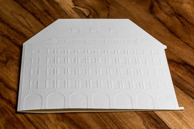 Druckerei Rapp-Druck Einladungskarte gepraegt und gestanzt