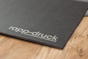 Druckerei Rapp-Druck Imagebroschüre Logo