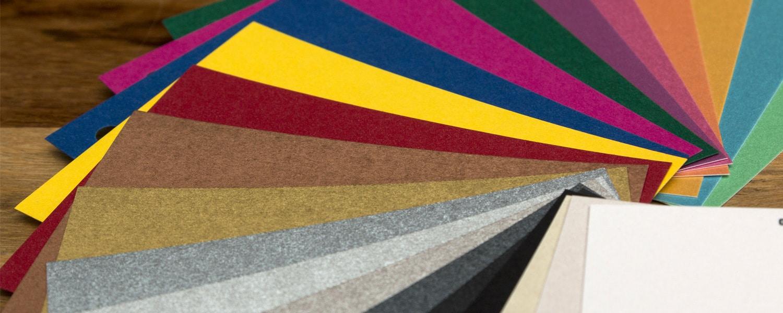 Druckerei Rapp-Druck Überblick Metallic- und Farbpapiere