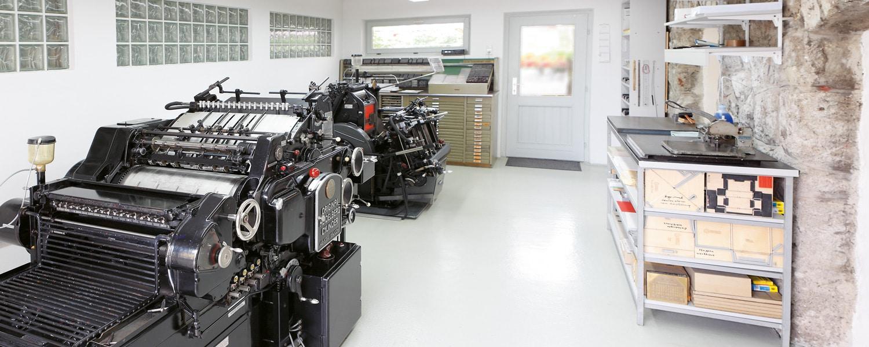 Heidelberger Zylinder und Tiegel der Druckerei Rapp-Druck GmbH zum Prägen und Stanzen für die Druckveredelung