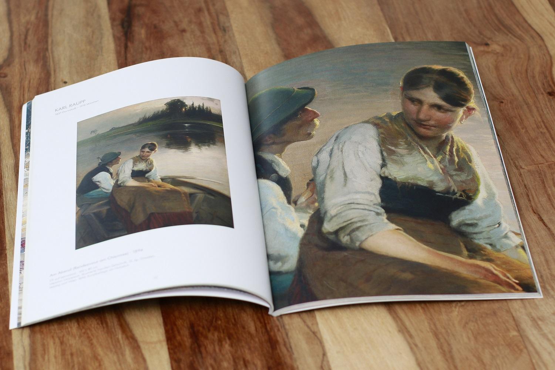 Inhaltsseite eines Kunstkataloges gedruckt von Rapp-Druck GmbH