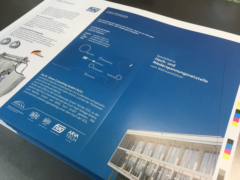 Flyer zum TecDay der FuG Elektronik GmbH gedruckt von Rapp-Druck GmbH