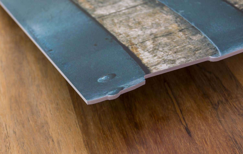 Speisekarte auf PVC Hartschaum mit 3 mm Stärke konturgefräst in der Seitenansicht Druckerei Rapp-Druck GmbH