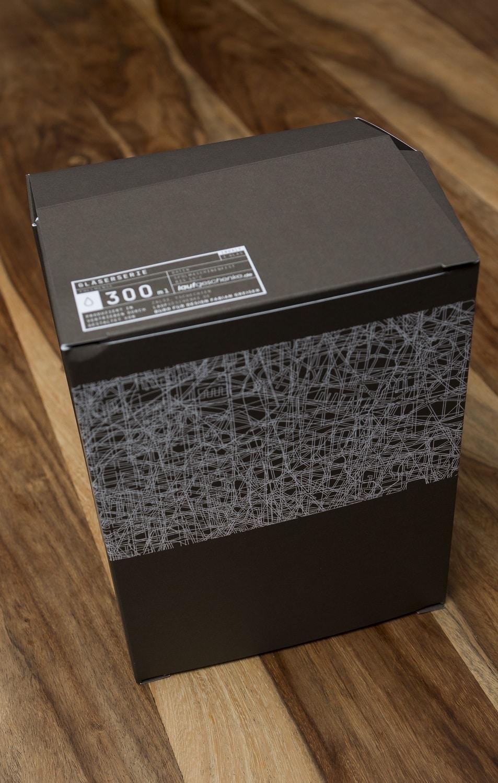 Hochansicht einer Schachtel der Druckerei Rapp-Druck GmbH