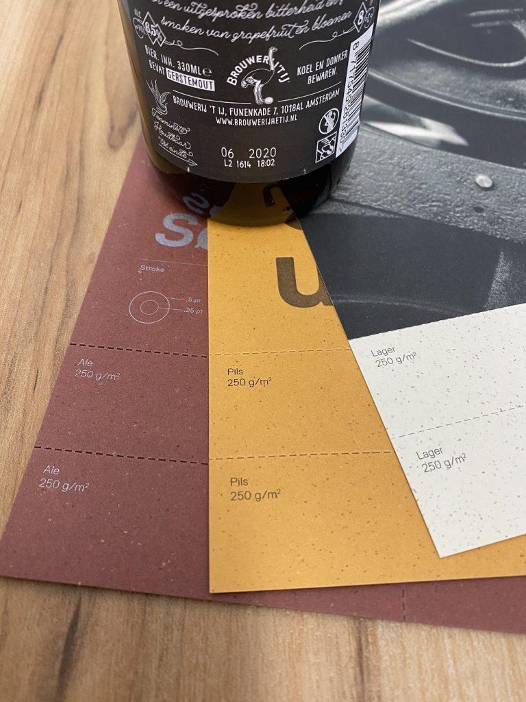 Rapp-Druck Gmund Bierpapier mit den Sorten Ale Lager und Pils in 250 g/m²